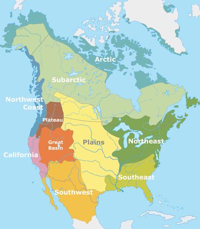 Ap Us History Native American Cultural Diversity - Cultural-map-of-the-us