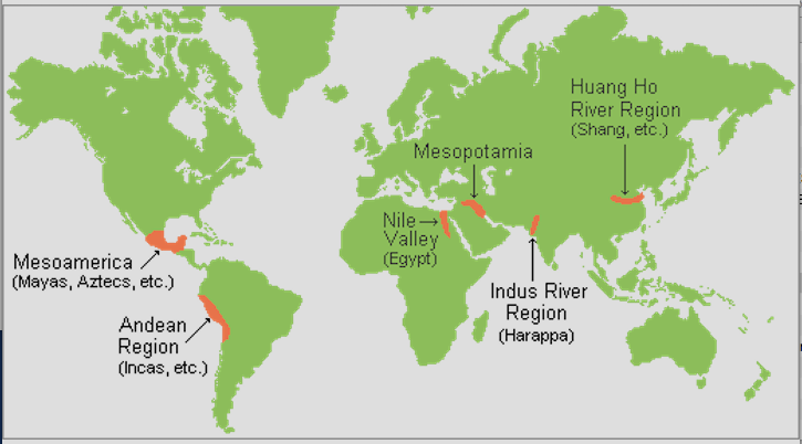 Indus River Location On World Map.Ap World History Characteristics Of Civilizations