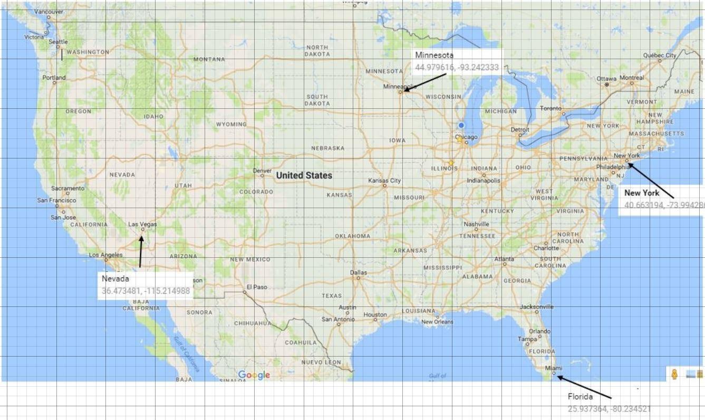 Gps Coordinates Map Mastery Math: Geometry   Identifying GPS Coordinates from a Map Gps Coordinates Map
