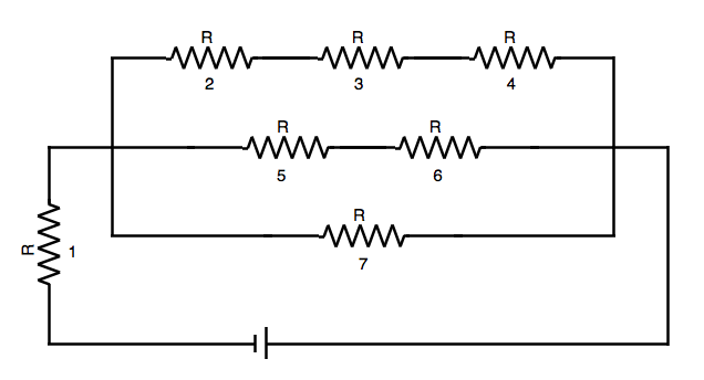 SAT Subject Test in Physics - Ranking Current In Combo Circuit