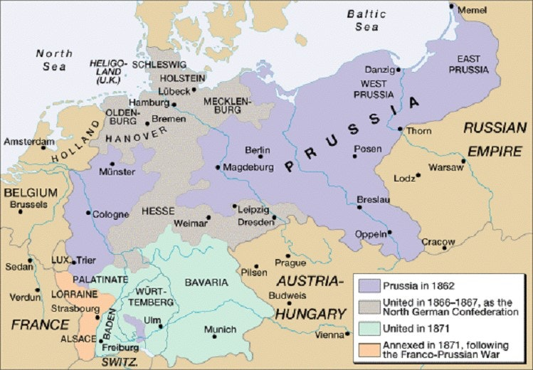 Map Of Germany 1871.Ap World History Problems Of German Unification In 1871