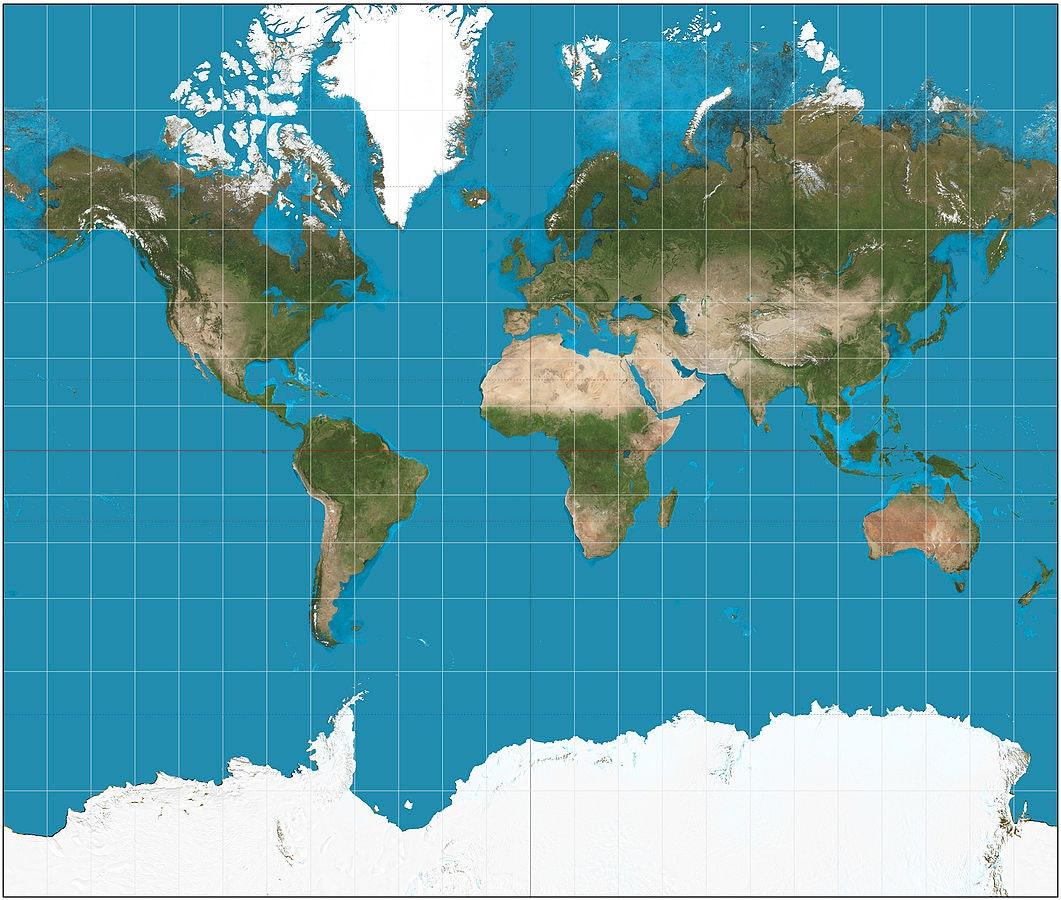 Mercator Projection. Digital Image. Wikimedia Commons. Wikimedia  Foundation, Inc. 26 Nov. 2016. Web. 22 Dec. 2016.